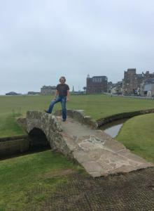 The famous bridge at the 18th on the Old Course, St Andrews