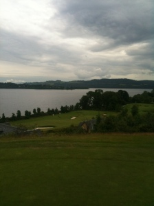 A view of Loch Lomond beyond the 15th green.